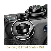 Canon g12-front dial control