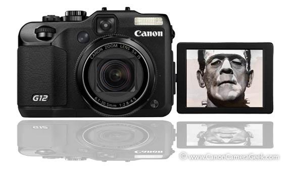 Canon G12 var-angle LCD screen