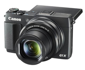 Photo of The Canon Powershot G1X Mark II Camera with LCD Screen Rotated