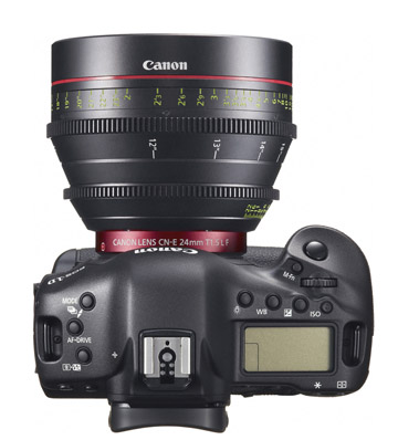 Canon EOS 1D C with 24mm Cinema Lens