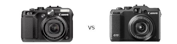 Canon G11 VS G15