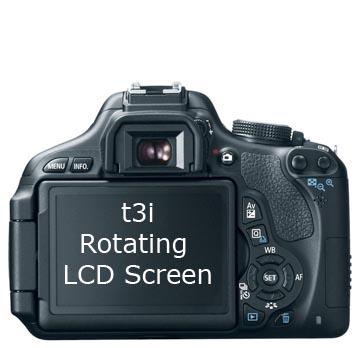 Canon t3i Rotating LCD Screen