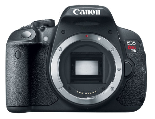 The Canon Rebel t5i sells for less than 750 Dollars.