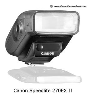 Photo of Canon speedlite 270EX-II with reflection underneath