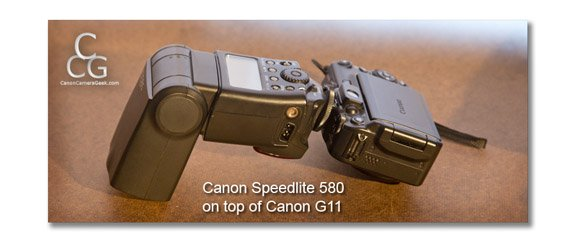 Canon Speedlite too big for smaller digital cameras