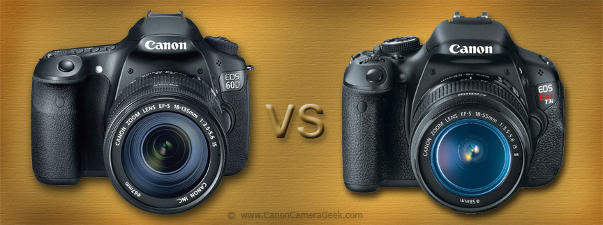 Canon T3i vs 60D Comparison Infographic Banner