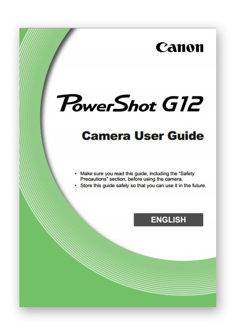 Cover of Canon G12 Manual