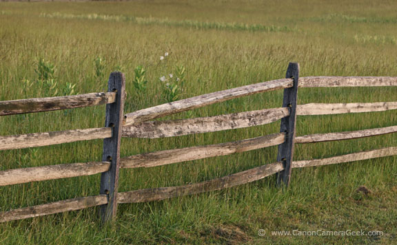 Photograph of One of the Fences at the Gettysburg Battlefield