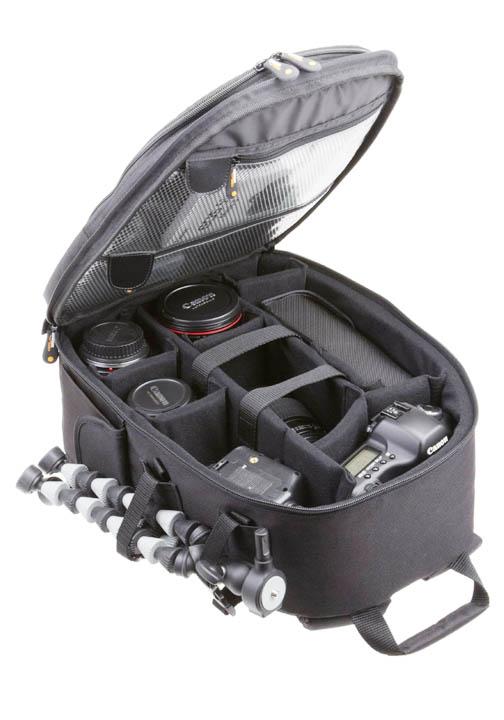 Open View of AmazonBasics Camera Bag