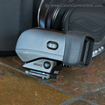 Side view of EVF-DC1 Viewfinder