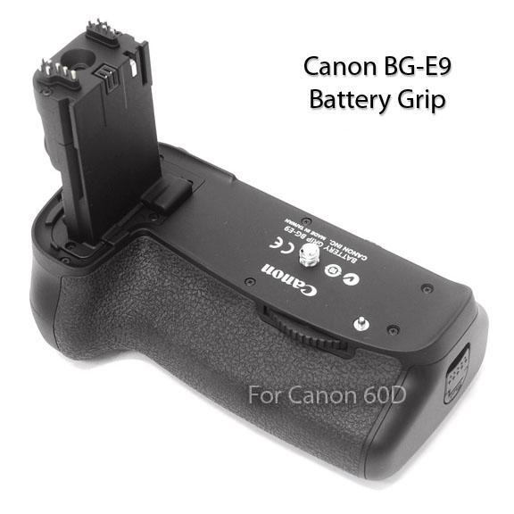 Top Diagonal View of Canon BG-E9 Battery Grip