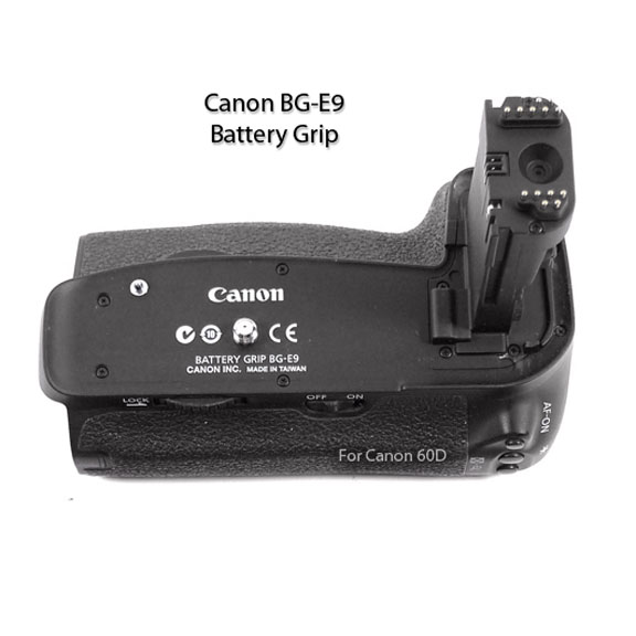 Top view of genuine Canon bg-E9 Battery Grip