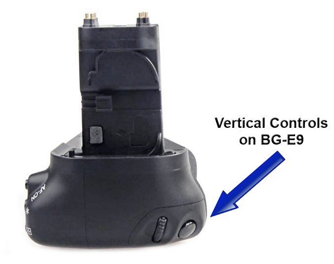 Vertical Controls on Canon 60D Battery Grip