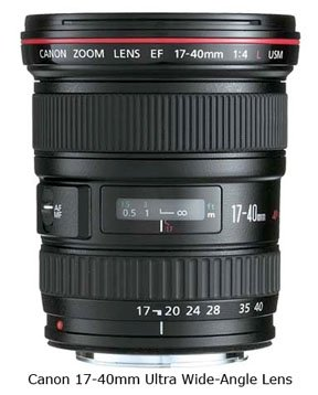 Canon 17-40 Wide-angle Lens for Full Frame