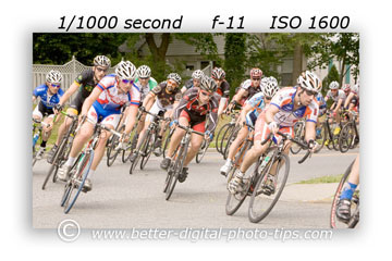 Bike race shot with Canon 70-200mm f/2.8 lens