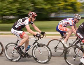 blurred bike racer
