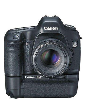 Canon 5D With BG-E4 Grip Attached