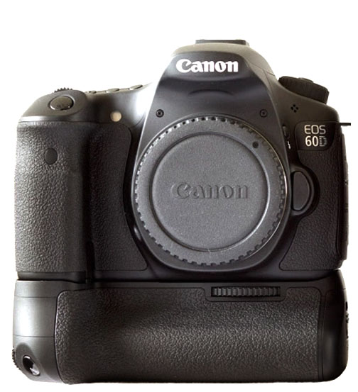 Canon EOS 60D With Battery Grip Attached