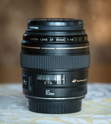 My Canon 85mm f/1.8 lens