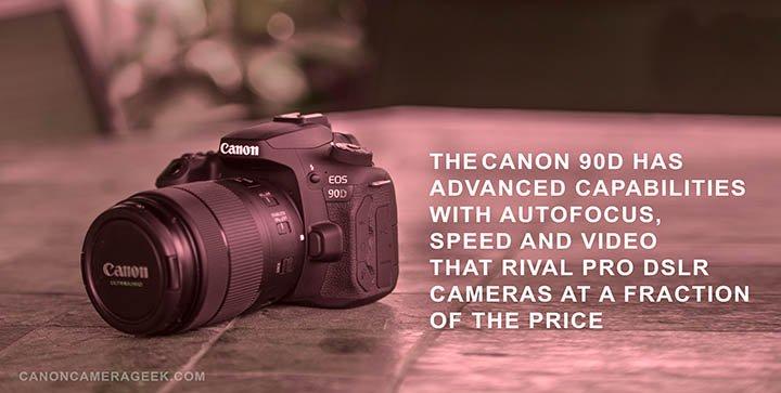 Canon 90d Advanced features header