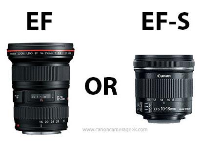 Canon EF vs EF-S size comparison