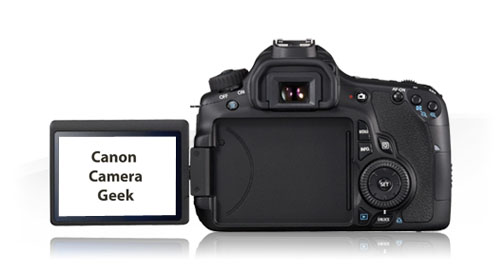 Canon EOS 60D Rotating LCD Screen