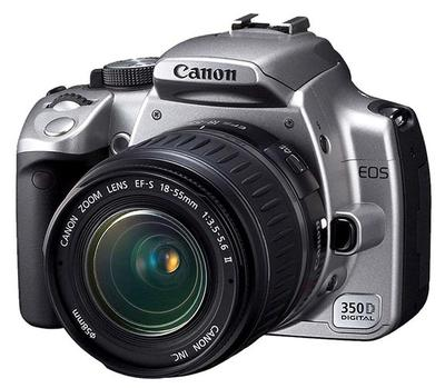 Canon 350D Camera With<br>18-55mm EF-S Lens Attached