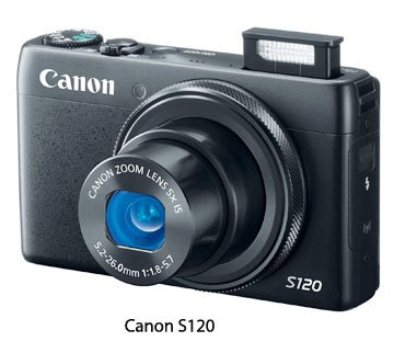 Front view of Canon S120