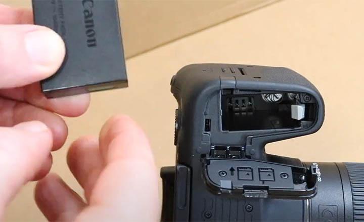 Canon t8i Battery Door