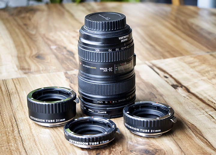Extension tubes for Canon lenses