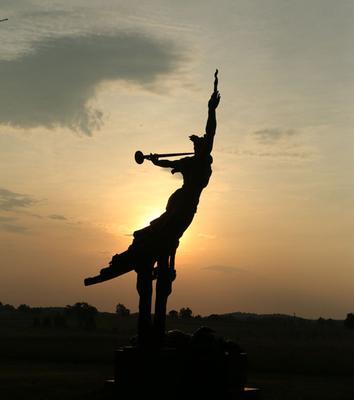 Monument at sunrise