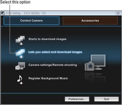 Canon EOS Utility Screenshot