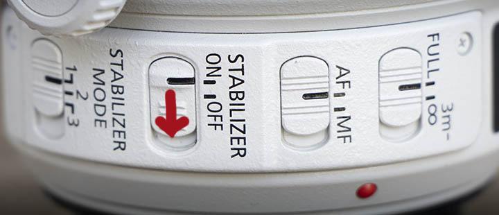 image stabilizer off