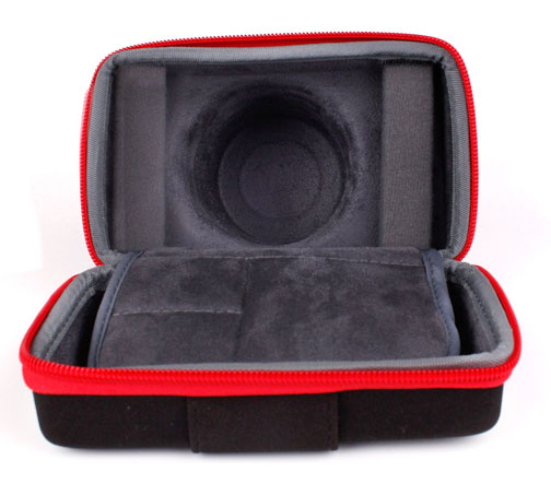 Photo of opened Duragadget Case for G1X Mark II