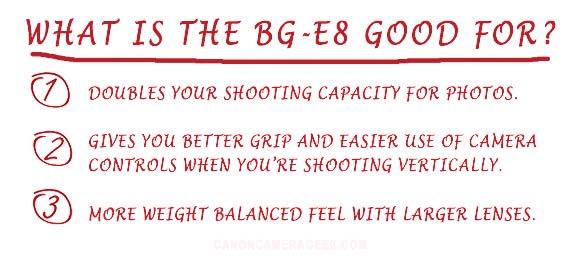 Battery Grip BG-E8 features