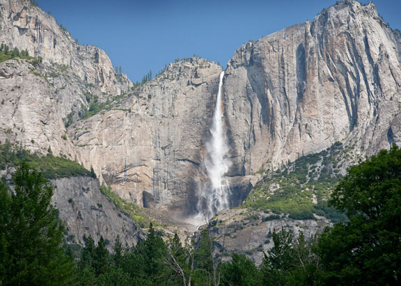 Yosemite Falls at 67mm lens setting